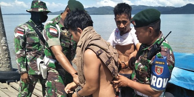 TNI Amankan Penyelundup 1 Kg Narkoba Asal Filipina Diperbatasan Nunukan