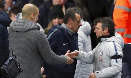 Komentar Guardiola Setelah Sarri Enggan Menjabat Tangannya