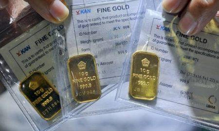 Harga Emas Antam Menurun Dibanding Hari Kemarin