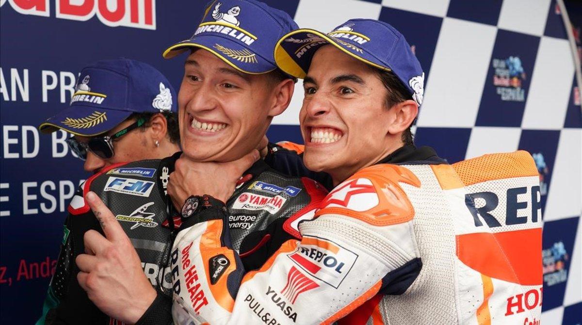 Marquez Dianggap Sengaja Kalah dari Quartararo di Kualifikasi MotoGP Catalunya