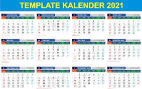 Link Download Gratis Kalender 2021 Beserta Tanggal Libur ...